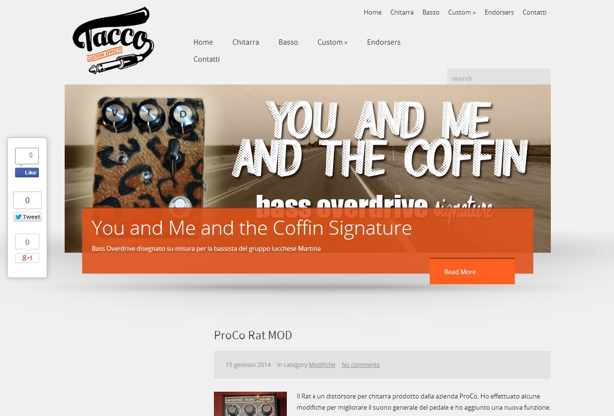 Tacco Custom Effects - Sito Internet